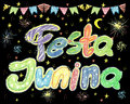 Watercolor Festa Junina Background Holiday. Greeting Card.