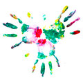 Watercolor finger. Stock Image