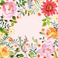Watercolor. Floral ornament. Spring.
