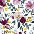 stock image of  Watercolor floral pattern.