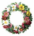 Watercolor Floral Wreath Illustration Royalty Free Stock Photo