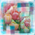 Watercolor Flower Garden Soft Shabby Scrapbook Page Royalty Free Stock Photos