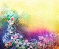 Watercolor Flower Painting. Ha...