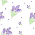 Watercolor flowers of lilac pattern