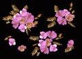 Watercolor flowers roses peonies seamless pattern.