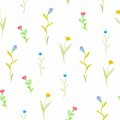 Watercolor flowers spring seamless pattern this is file of eps format Royalty Free Stock Photos