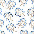 Watercolor fores berry seamless pattern