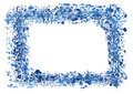 Watercolor frame border Royalty Free Stock Images