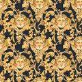 Watercolor Golden Baroque Ange...