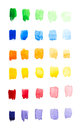 Watercolor gradient palette hand painted Royalty Free Stock Photo