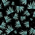 Watercolor green leaves pattern