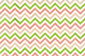 Watercolor green, pink and beige stripes background, chevron.