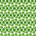 Watercolor green seamless pattern polka dots hand drawn abstract background with circles vector illustration Stock Photos