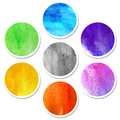 Watercolor hand painted circles for your business Royalty Free Stock Image
