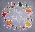 Watercolor Happy thanksgiving day card