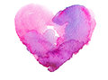Watercolor heart concept love relationship art Royalty Free Stock Images