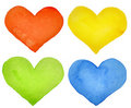 Watercolor hearts Royalty Free Stock Images