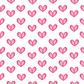 Watercolor hearts seamless pattern beautiful vector hand drawn illustration Stock Photo