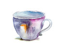 Watercolor illustration of cup Royalty Free Stock Images
