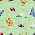 Title: Watercolor insects illustrations