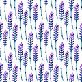 Watercolor lavender seamless pattern. Pattern for fabric, paper and other printing and web projects. Watercolor background.