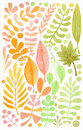 Watercolor leaves set. Tropical and garden decoration. Wedding invitation or stationery design.