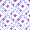 Watercolor Light Blue and Lilac Squares Repeat Pattern