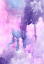 Watercolor lilac  colors  vivid abstract wash drawing  backgrouns   for design Royalty Free Stock Photo