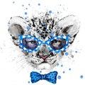 Watercolor Lion cub illustration