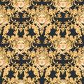 Watercolor Luxury Golden Baroq...