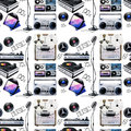 Watercolor musical devices pattern