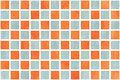 Watercolor orange and blue squares Royalty Free Stock Photo