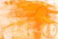 Watercolor orange painted background Royalty Free Stock Photo