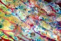 Watercolor paint pastel  hues, paint blue orange pink abstract creative background Royalty Free Stock Photo