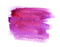 Watercolor paint stain pink and purple on white background isolated Stock Images