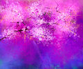 Watercolor painting Cherry blossoms Royalty Free Stock Photo