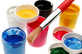 Watercolor paints Stock Images