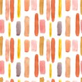 Watercolor pastel color seamless pattern with smears and lines on white background. Neutral colour palette.