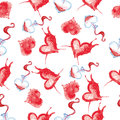 Watercolor pattern to the day of lovers