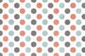 Watercolor pink, blue and grey polka dot background. Royalty Free Stock Photo