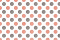 Watercolor pink and grey polka dot background. Royalty Free Stock Photo