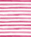 Watercolor Pink And White Stri...