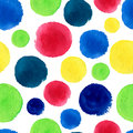 Watercolor polka dots seamless pattern abstract background Stock Image