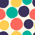 Watercolor polka dots seamless pattern of abstract background soft colors Royalty Free Stock Image