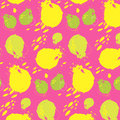Watercolor pomegranate pattern. Hand drawn texture on a pink background