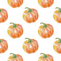 Watercolor Pumpkin Seamless Pa...
