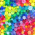 Watercolor Rainbow circles seamless pattern. Vitamin concept Royalty Free Stock Photo