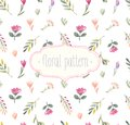 Watercolor seamless floral pattern. Royalty Free Stock Photo