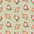Watercolor seamless pattern with flowers illustration vinage dog rose Stock Photo