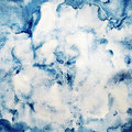 Watercolor seamless pattern, hand painted dark blue abstract bac